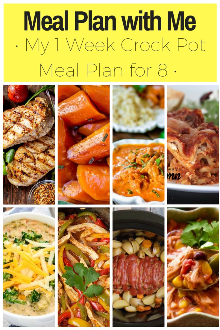 meal plan with me! 1 week of slow cooker meals! | meal prep