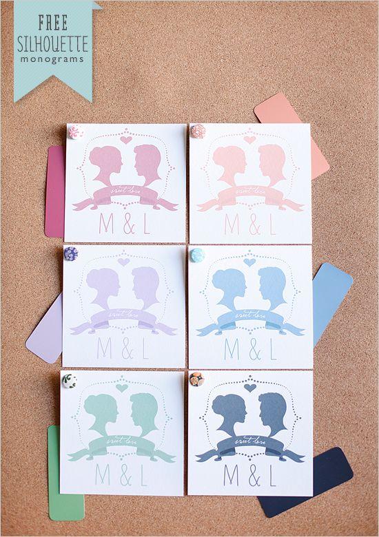 Free Customized Silhouette Wedding Monogram