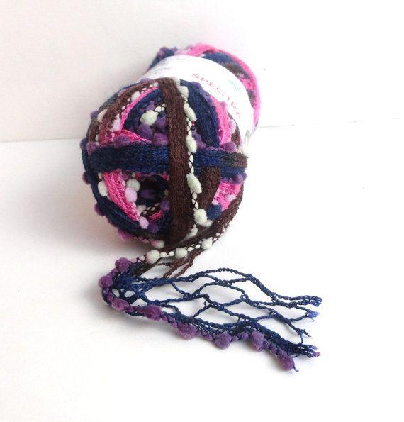 ruffle scarf yarn / lace scarf yarn / spring by yarnsupplies, $8.00