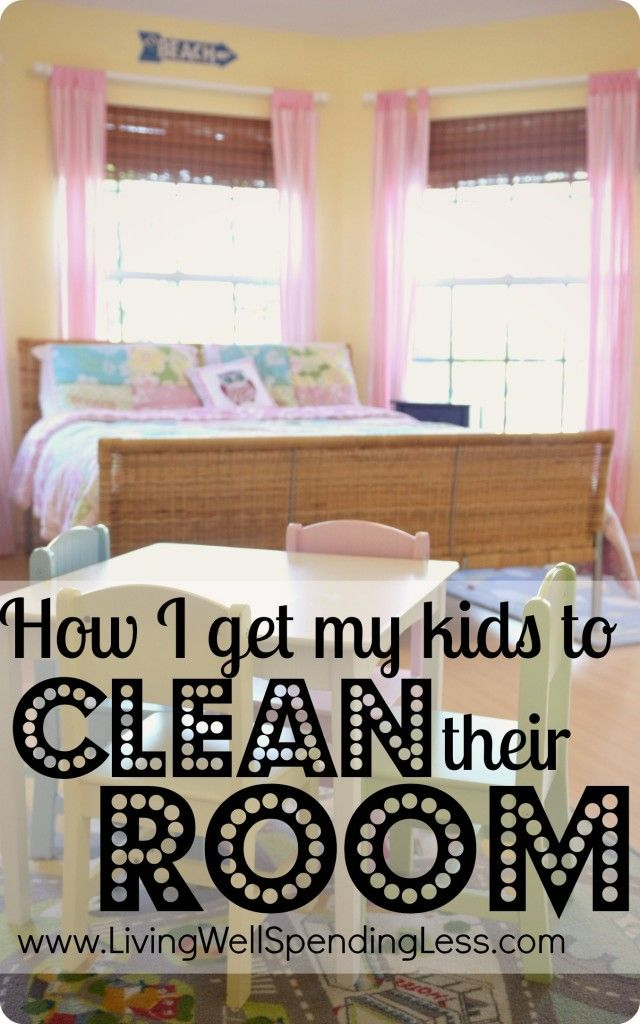 How I get my kids to clean their room--one mom's epic struggle to get kids to keep their room tidy.  #cleaning #organizing #kids