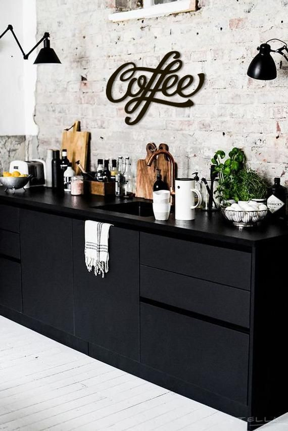 Coffee Metal Word Wall Art Home Decor Word Wall Hanging