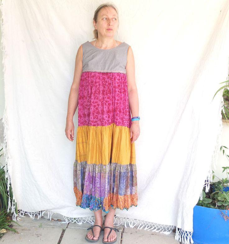 Dress - Copa Cobana -  Slip on Summer Dress Pure Silk - made by Resplendent rags by resplendentrags on Etsy