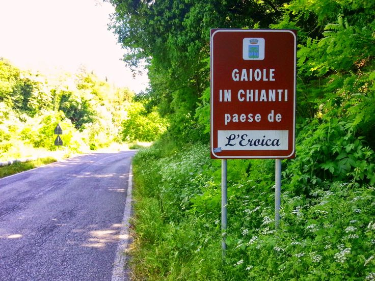 "Gaiole in Chianti - Tuscany, the land of ""Eroica"" cycling competition."