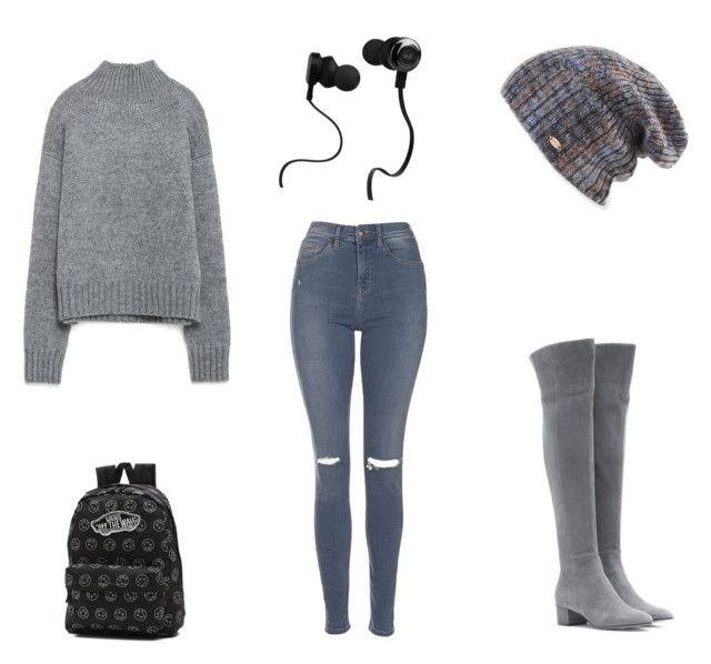 """""""back to school"""" by adriana-elena-pusco on Polyvore featuring Topshop, Gianvito Rossi, Zara, Spacecraft, Monster and Vans"""