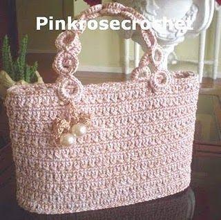 Bolsa+de+Croche+-+Crochet+Handbag+-+Pink+Rose.jpg (320×318)