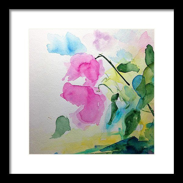 Two Framed Print featuring the painting Wild Flowers Part Three by Britta Zehm