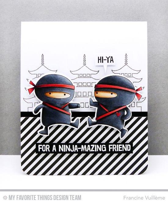 Ninja-mazing Stamp Set and Die-namics, Tag Builder Blueprints 5 Die-namics - Francine Vuillème  #mftstamps