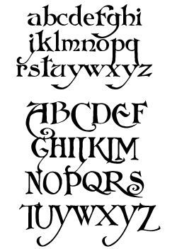 pretty art nouveau font again not too girly but feminine Inspired by the art nouveau and arts & crafts fonts