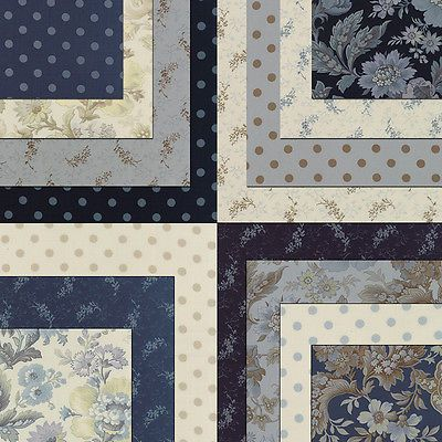 "LAYER CAKE~42-10"" SQUARES~SNOWBIRD PRINTS~MODA FABRIC~LAUNDRY BASKET QUILTS~BLUE"