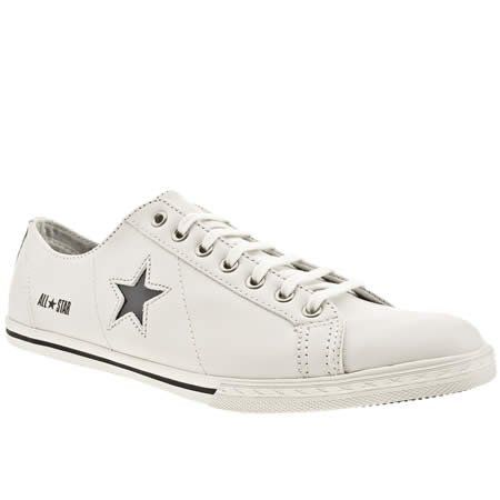 Converse One Star Pro Low - 11 Uk - White & Black - Leather