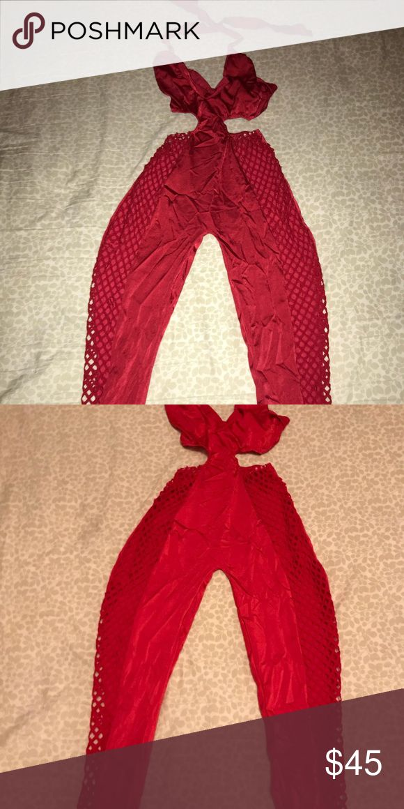 Red catsuit Red catsuit with fishnet sides. Size small. Very sexy. Comes as is Other