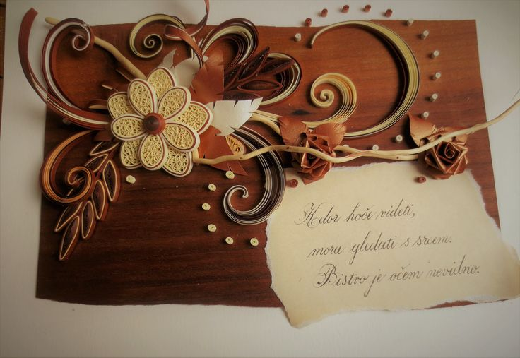 QUILLING CARD AND CALLIGRAPHY