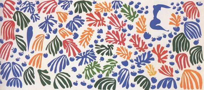 """La Perruche et la Sirene (The Parakeet and the Siren)"", 1952 / Henri Matisse (1869-1954) / Stedelijk Museum, Amsterdam, The Netherlands"