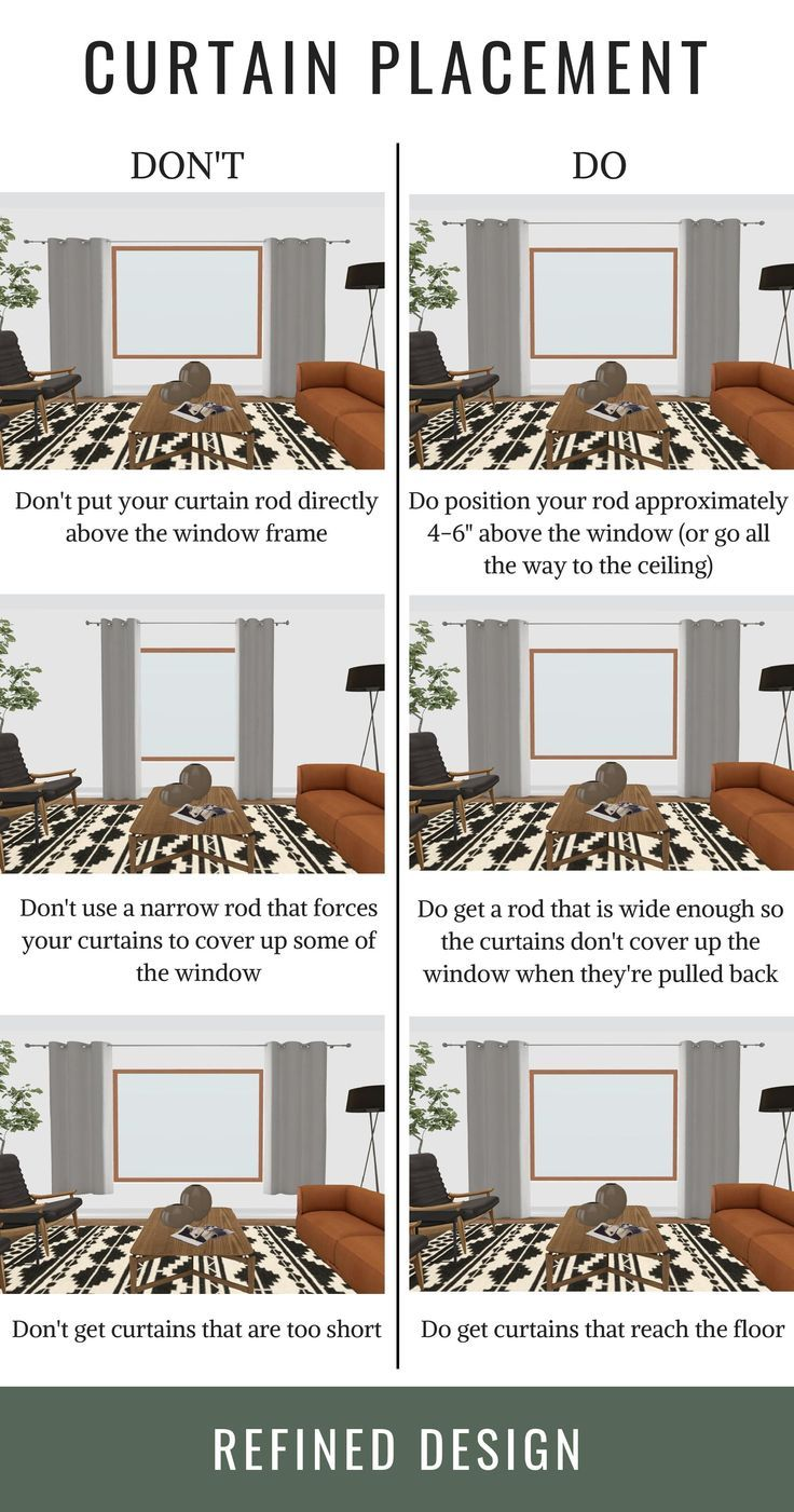 THE DO'S + DON'TS OF CURTAIN PLACEMENT | Curtains living ...