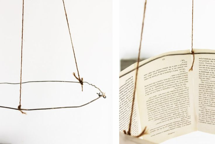 Sweet Magazine - DIY Book Page Chandelier Tutorial great for chic baby showers and Alice in Wonderland Parties!