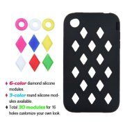 iPhone 3GS Case, by Insten Removable parts Module Gel Rubber Cover Case For Apple iPhone 3G/3GS case cover