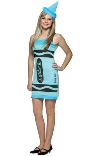 Sky Blue Crayola Crayon Teen Costume