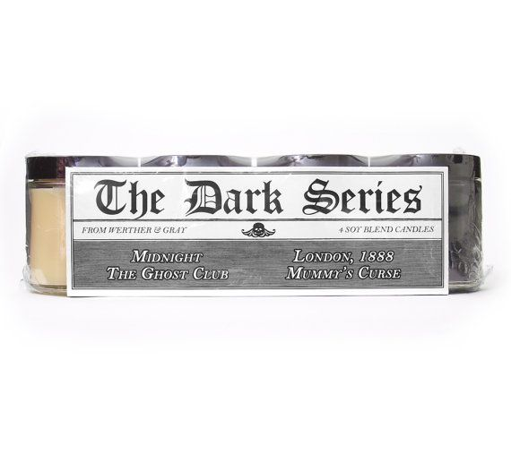 DARK SERIES I Candle Gift Set 4 Scented Candles by WertherAndGray