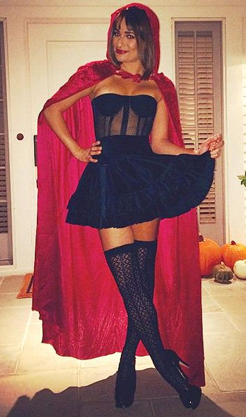 Easy Halloween Costume Ideas to Steal From Your Favorite Stylish Celebs   Lea Michele as Little Red Riding Hood