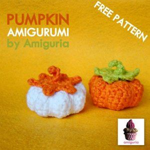 Mini Crochet Pumpkin Pattern; brought to you by Leticia Avila for Amiguria (via FaveCrafts.com).