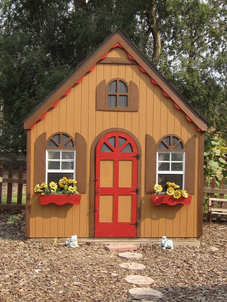 308 best play house images on pinterest doll houses for Playhouse with garage plans