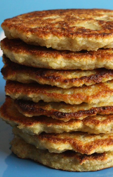 Polish Potato Pancakes recipe from Jenny Jones (JennyCanCook.com) - These potato pancakes are healthy, never greasy, and easy to make. Watch my How-To video at: http://www.jennycancook.com/videos/  #JennyJones #JennyCanCook #potatopancakes