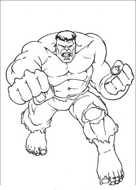 Coloriage Dessins. Hulk 13