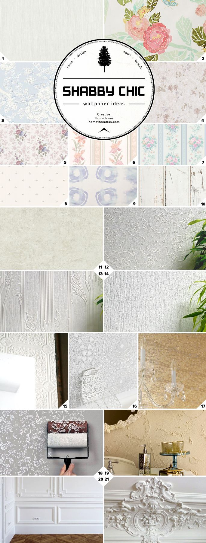 Most of the shabby chic wallpaper designs and ideas in the mood board above can be bought online. You'll find links and a shopping picture guide down below. Shabby Chic Color Palette White wall are the classic shabby chic choice. So a very subtle textured white wallpaper, such as a linen texture, will look amazing […]
