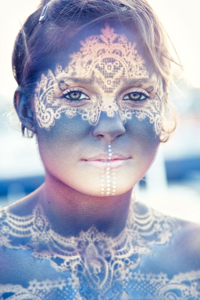Body Art by Icarus Zaure body paint + doilies?