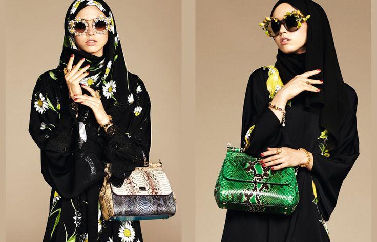 Arabia meets la dolce vita. Así podríamos resumir a la nueva colección de Dolce & Gabbana en la que se presentan diseños de abayas y hijabs para las mujeres musulmanas.
