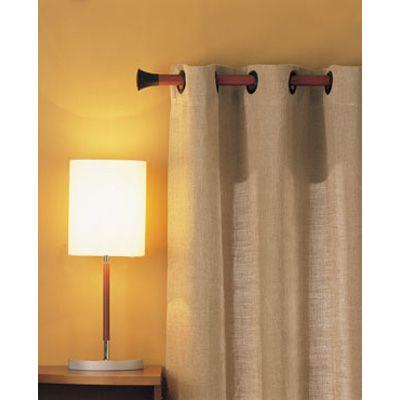Barras y terminales de madera noble y metal para cortinas - Cortinas de madera ...