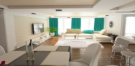 Design interior apartament cu 3 camere realizat in stilul modern in Constanta .