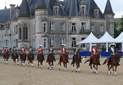 Répétition générale de la Garde Républicaine au château de Thillombois devant près de 3000 scolaires de Meuse. Photo d'archives Jean-Noël Portmann