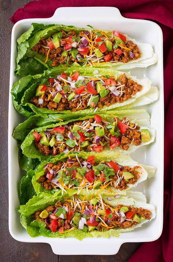 Turkey Taco Lettuce Wraps Substitute olive oil for fry light to make this recipe SW friendly