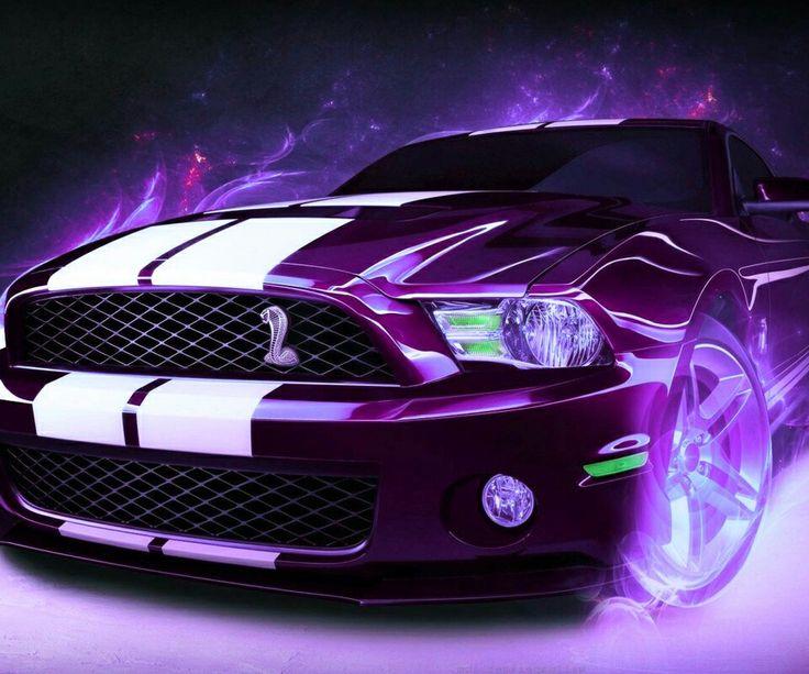 Purple Amp White Mustang My Zedge Wallpaper Pinterest