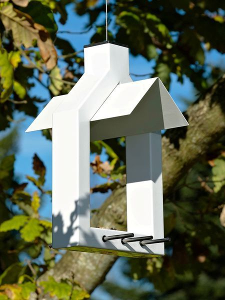 Yes, this little tweet-machine goes on the Landscaping Board! Contemporary Danish Bird Feeder