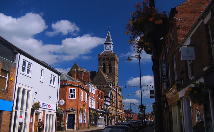 the High Street and town hall