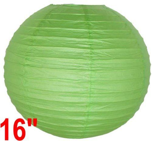 """Light Green Chinese/Japanese Paper Lantern/Lamp 16"""" Diameter - Just Artifacts Brand by Just Artifacts. $1.75. Great for party and home decoration. Check Just Artifacts products for more available colors/sizes."""