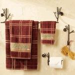 Rustic Towel Bars and Lodge Bathroom Accessories
