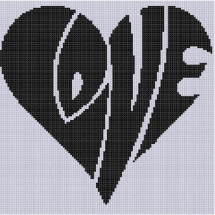(10) Name: 'Embroidery : Love Heart Cross Stitch Pattern