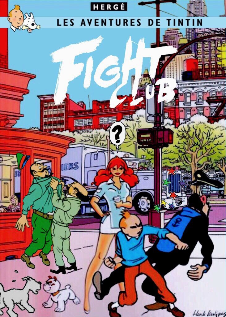 Les Aventures de Tintin - Album Imaginaire - Fight Club