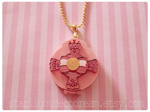 Smile Pretty Cure Inspired Jeweled Smile Pact Necklace for Magical Girl Shoujo & Mahou Kei Fashion