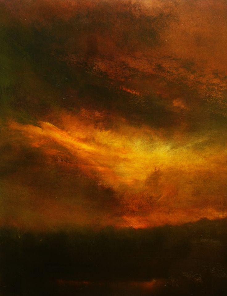 """Sundown (oil/canvas, 38""""x32"""")  Maurice Sapiro"""
