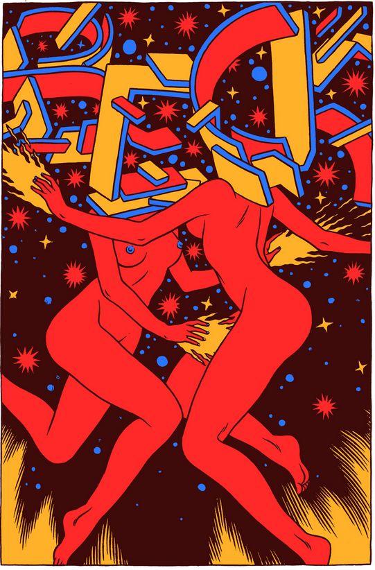 Bicicleta Sem Freio (Brazilian Illustration Studio), Beck poster, Life is Beautiful Festival.