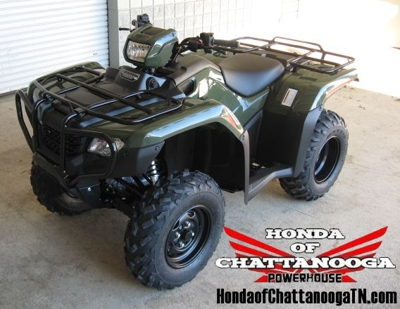 2014 Foreman 500 ES 4x4 ATV Sale at Honda of Chattanooga / Your GA AL TN ATV Dealer offering some of the Lowest & Best Honda Foreman 500 Sale Prices around.  www.HondaofChattanoogaTN.com  This model is the 2014 Foreman / TRX500FE1E which is the Electric Shift Foreman 500.  Contact Kevin at Honda of Chattanooga in TN before you buy your 2014 500 Foreman anywhere and get our current 2014 Honda ATV Sale Prices.