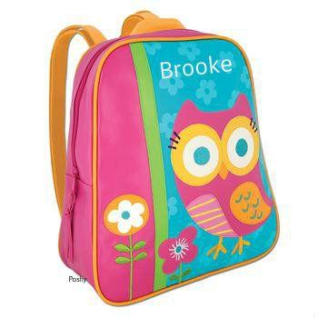 Poshy Kids - Personalized Kids Backpacks Stephen Joseph GoGo Owl, $23.99 (http://www.poshykids.com/personalized-kids-backpacks-gogo-owl/)