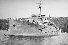 "HMAS ""Broome ""(J191),   was one of 60 Bathurst-class corvettes constructed during World War II and one of 20 built for the Admiralty but manned by personnel of and commissioned into the Royal Australian Navy(RAN)."