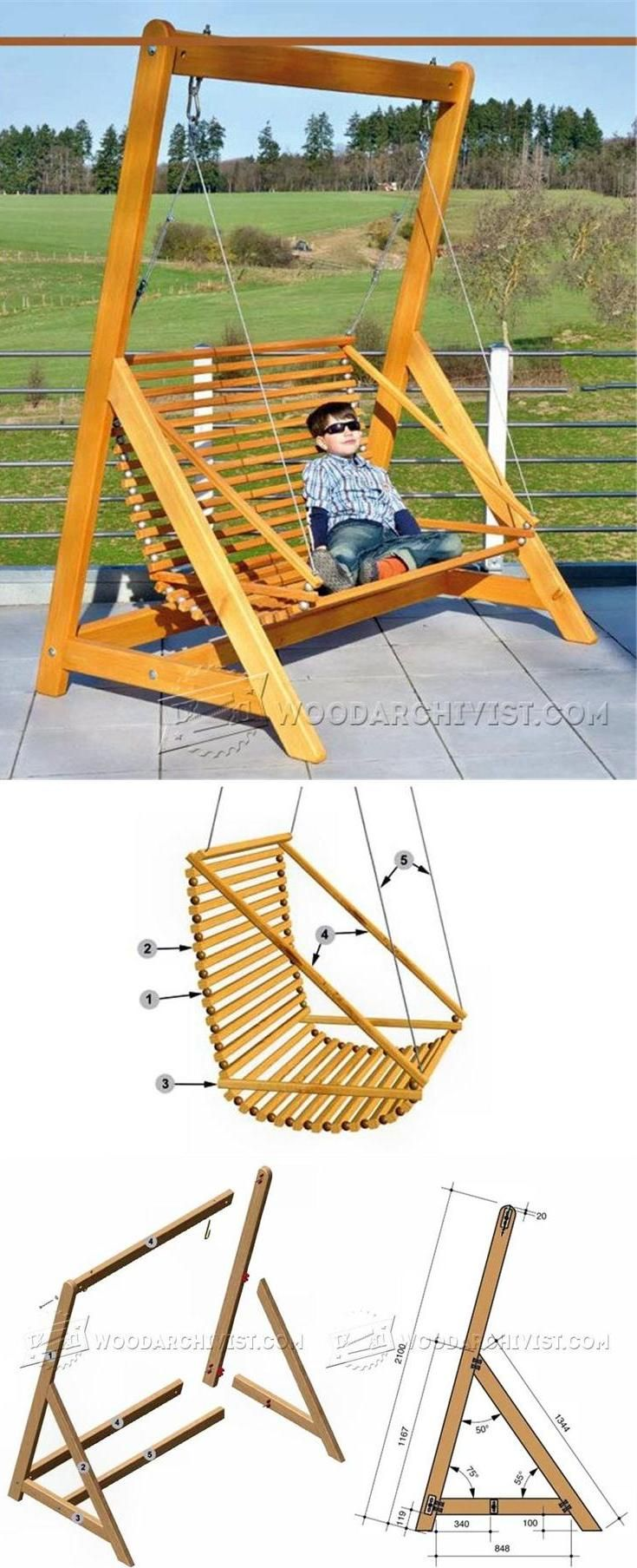 25 best ideas about garden swings on pinterest yard - Backyard swing plans photos ...