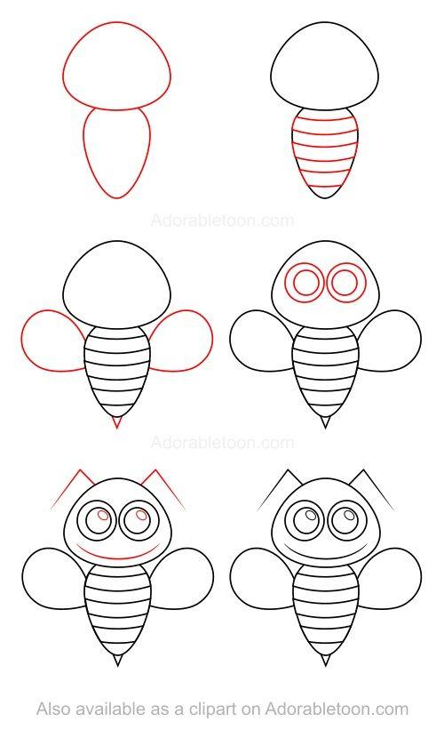 Comment dessiner une abeille drawing preschoolers - Dessiner une chatte ...