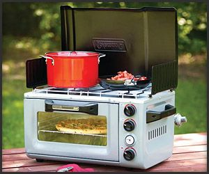 Coleman Outdoor Oven Stove: gotta have it for your treehouse or RV camping!!